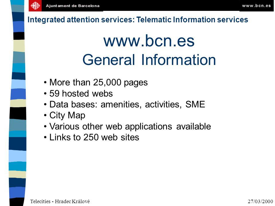 Telecities - Hradec Králové27/03/2000 Integrated attention services: Telematic administrative procedures CITIZEN / SME 010 O.A.C.