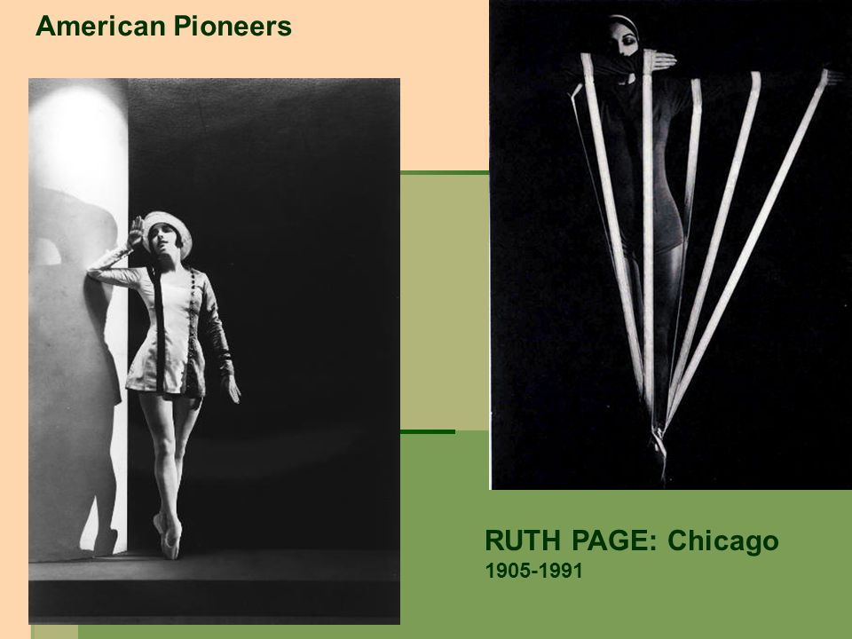 RUTH PAGE: Chicago 1905-1991 American Pioneers