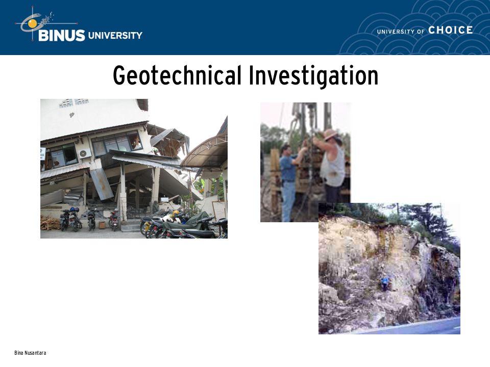 Bina Nusantara Geotechnical Investigation