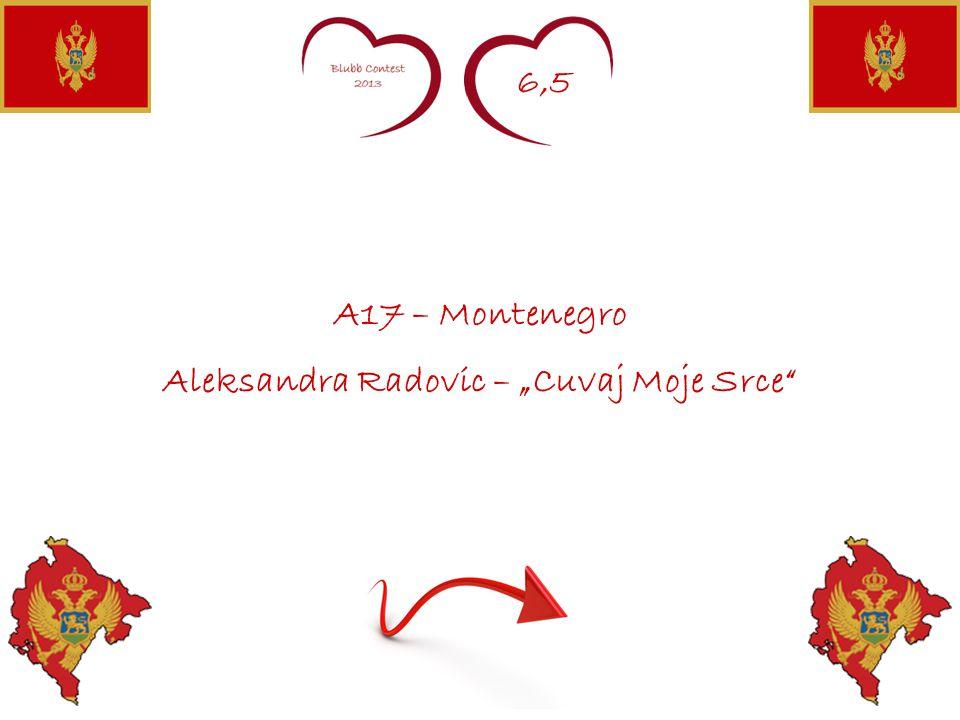 "6,5 A17 – Montenegro Aleksandra Radovic – ""Cuvaj Moje Srce"