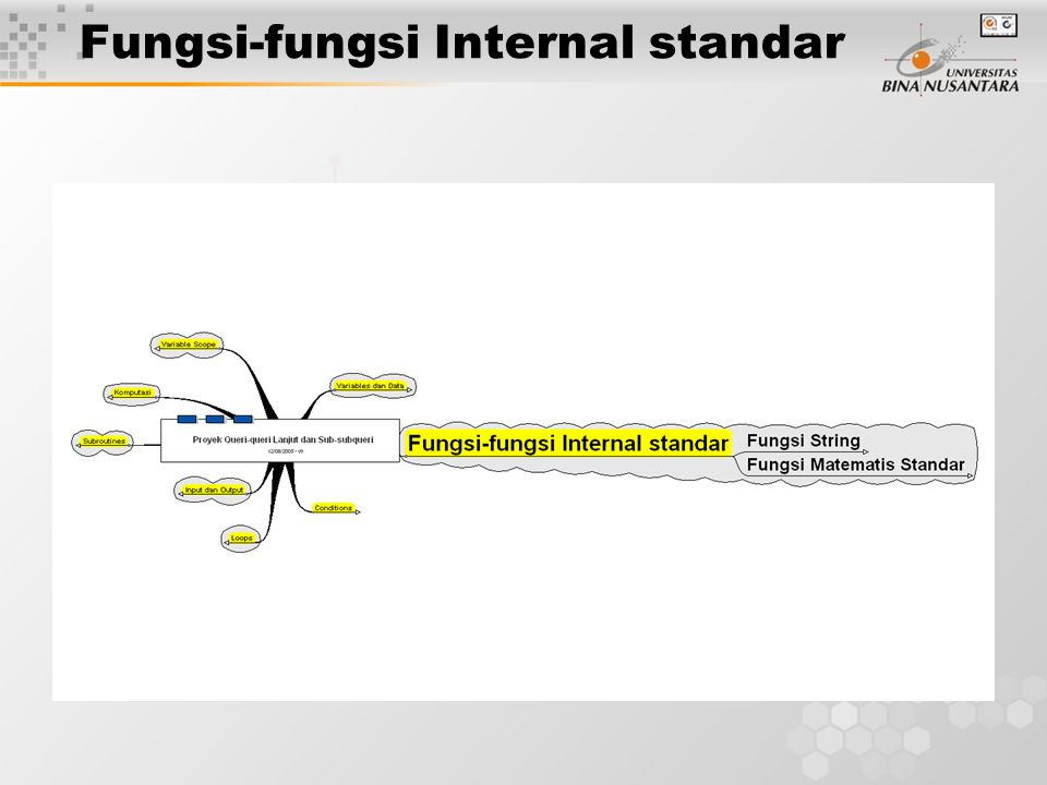 Fungsi-fungsi Internal standar