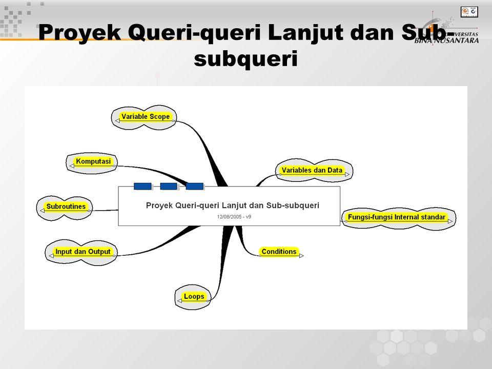 Proyek Queri-queri Lanjut dan Sub- subqueri