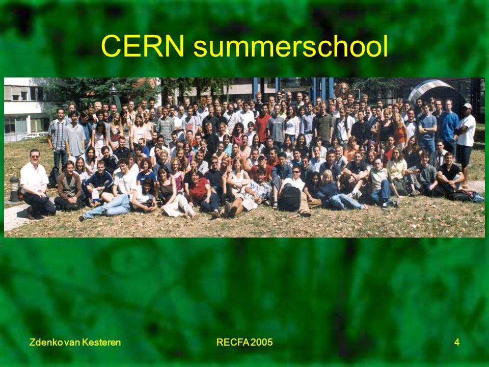 Zdenko van KesterenRECFA 20054 CERN summerschool