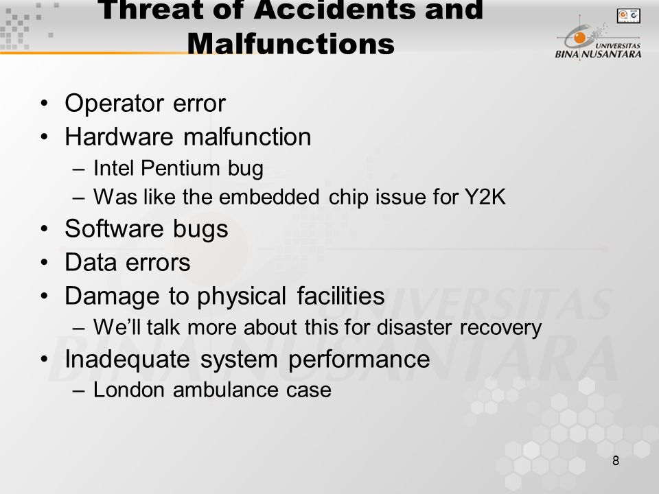 7 Threat of Project Failure Remember this? What do you think the curve would look like for cost of failure?