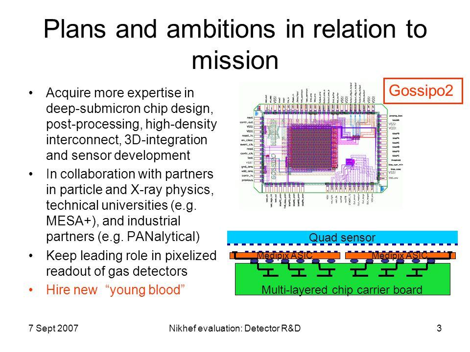 7 Sept 2007Nikhef evaluation: Detector R&D4 Highlights