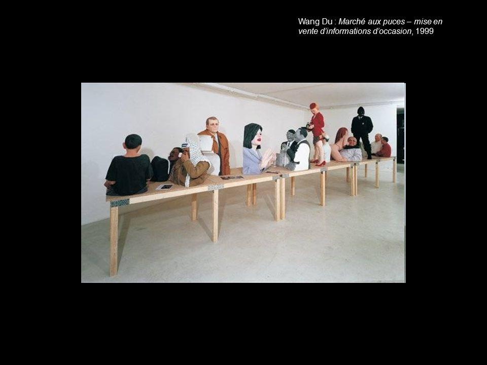 Wang Du : Marché aux puces – mise en vente d'informations d'occasion, 1999