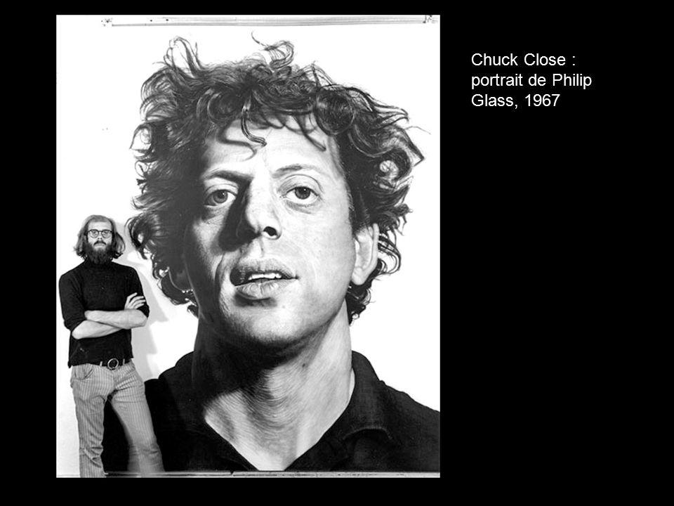 Chuck Close : portrait de Philip Glass, 1967