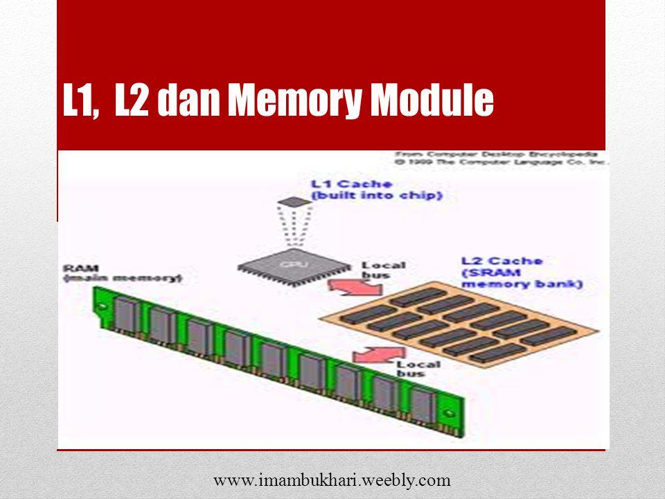 L1, L2 dan Memory Module www.imambukhari.weebly.com
