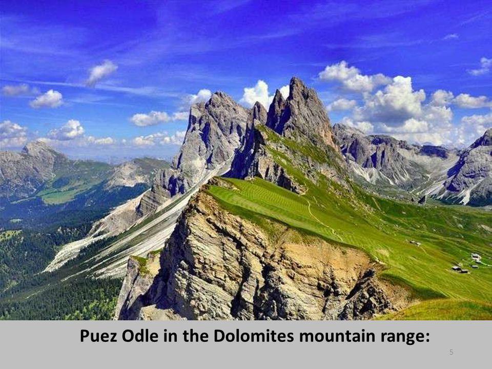 Puez Odle in the Dolomites mountain range: 5