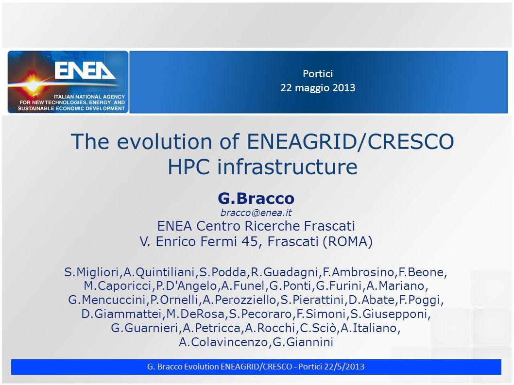 G. Bracco Evolution ENEAGRID/CRESCO - Portici 22/5/2013 ENE CRESCO4 computer room (3)