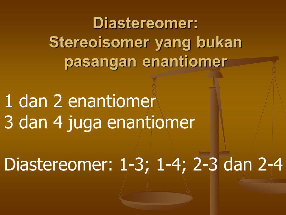 Epimers: distereomer yang berbeda hanya pada satu pusat kiral saja