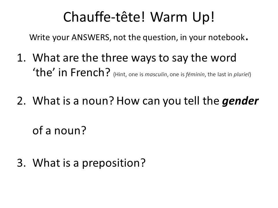 Using the preposition « à » (How the word 'to' is used en français)