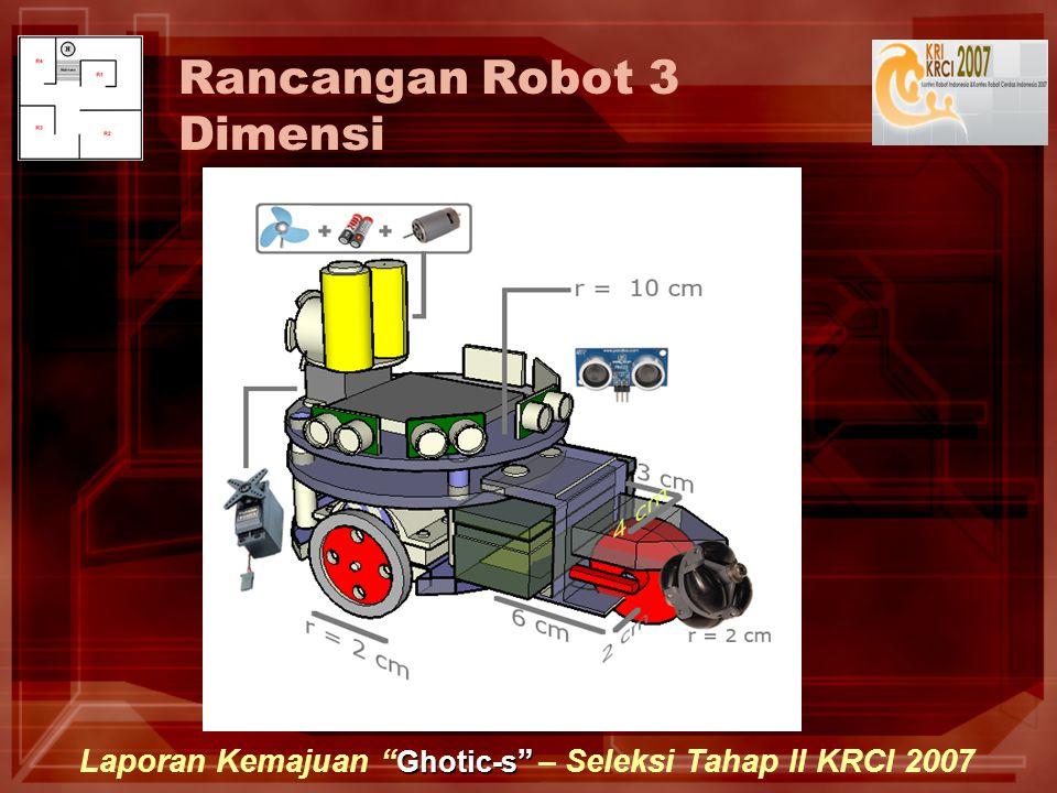 Ghotic-s Laporan Kemajuan Ghotic-s – Seleksi Tahap II KRCI 2007 Rancangan Robot 3 Dimensi