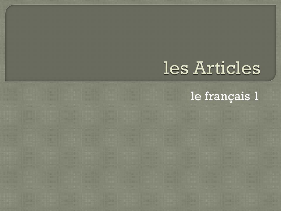 le français 1
