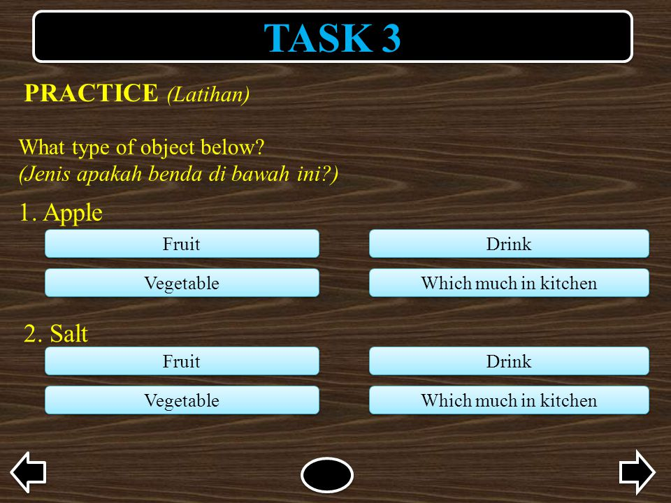 TASK 3 What type of object below. (Jenis apakah benda di bawah ini ) 1.