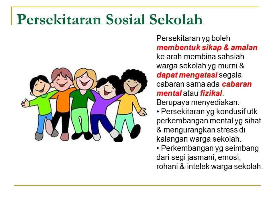 Penglibatan Komuniti kerjasama menyokong meningkatkan Bentuk kerjasama di antara warga sekolah, ibu bapa serta masyarakat yg menyokong dan meningkatkan tahap kesihatan warga sekolah.