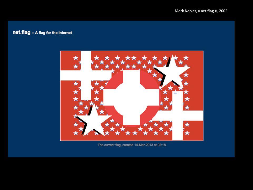 Mark Napier, « net.flag », 2002