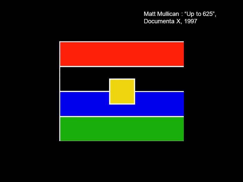 Matt Mullican : Up to 625 , Documenta X, 1997