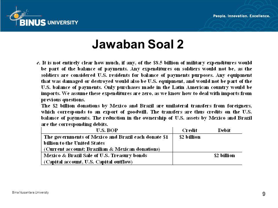 Bina Nusantara University 9 Jawaban Soal 2