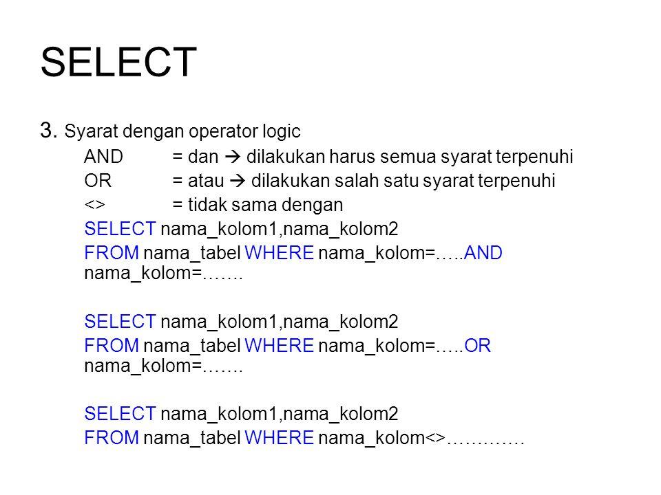 SELECT 3.