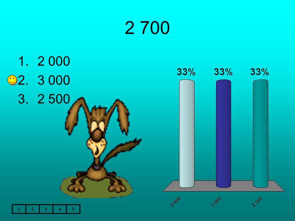 2 700 12345 1.2 000 2.3 000 3.2 500