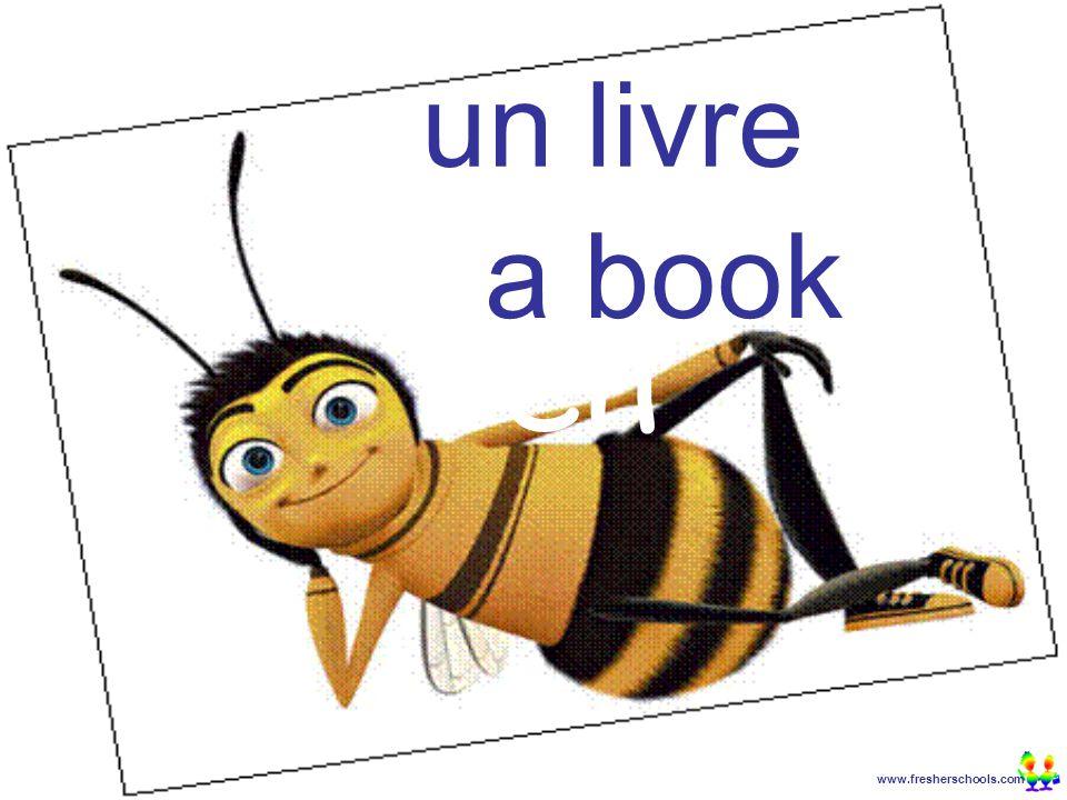 www.fresherschools.com Ben un livre a book