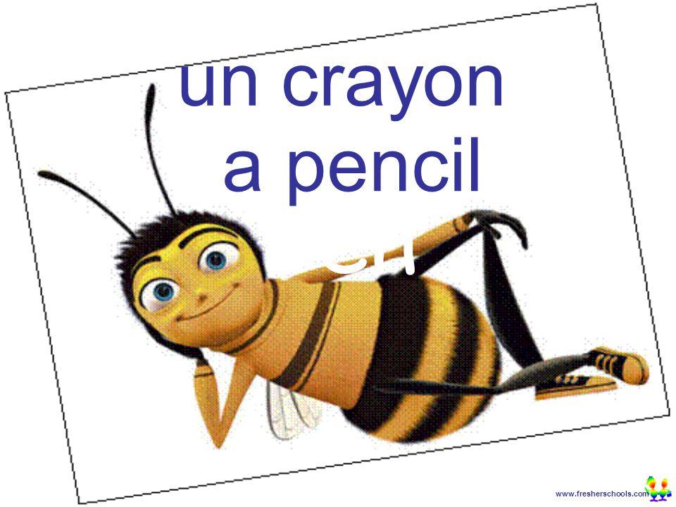 www.fresherschools.com Ben un crayon a pencil