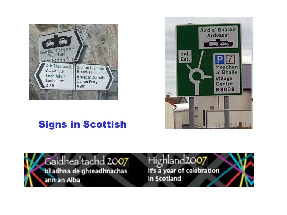 Signs in Scottish