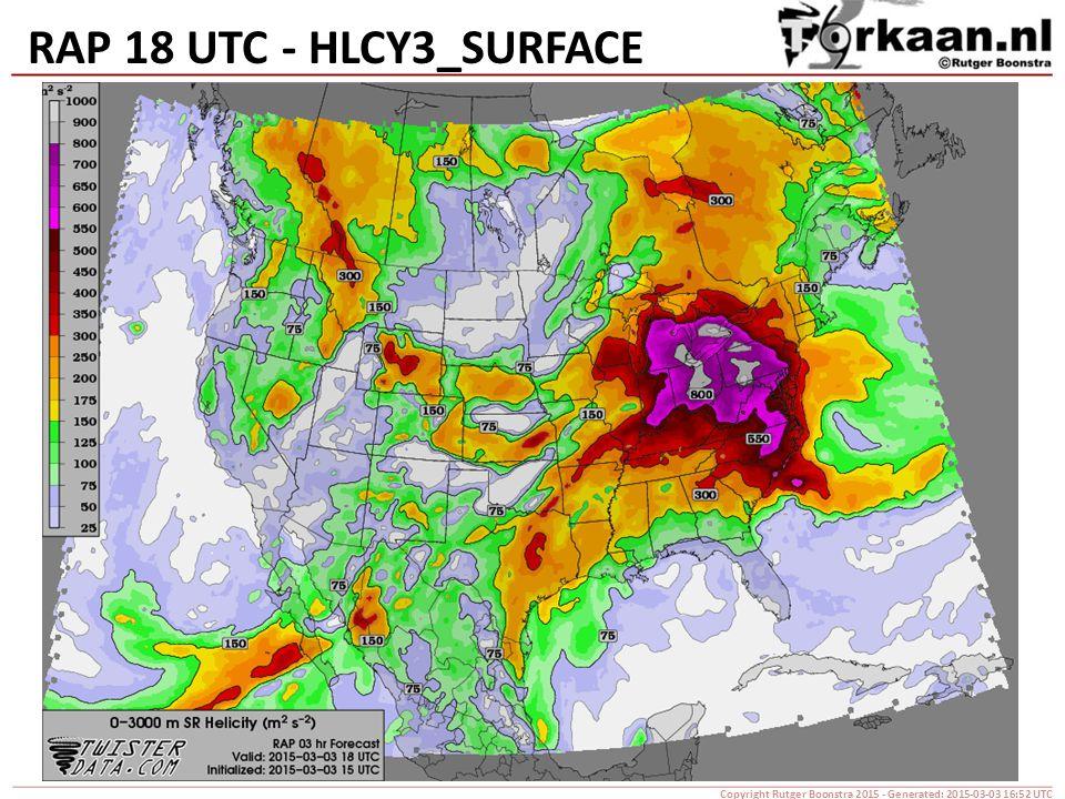 RAP 18 UTC - HLCY3_SURFACE Copyright Rutger Boonstra 2015 - Generated: 2015-03-03 16:52 UTC