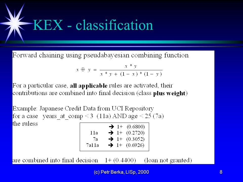 (c) Petr Berka, LISp, 20008 KEX - classification