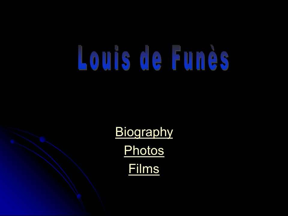 Louis de Funès was born on the 31st July 1914 in Courbevoie.