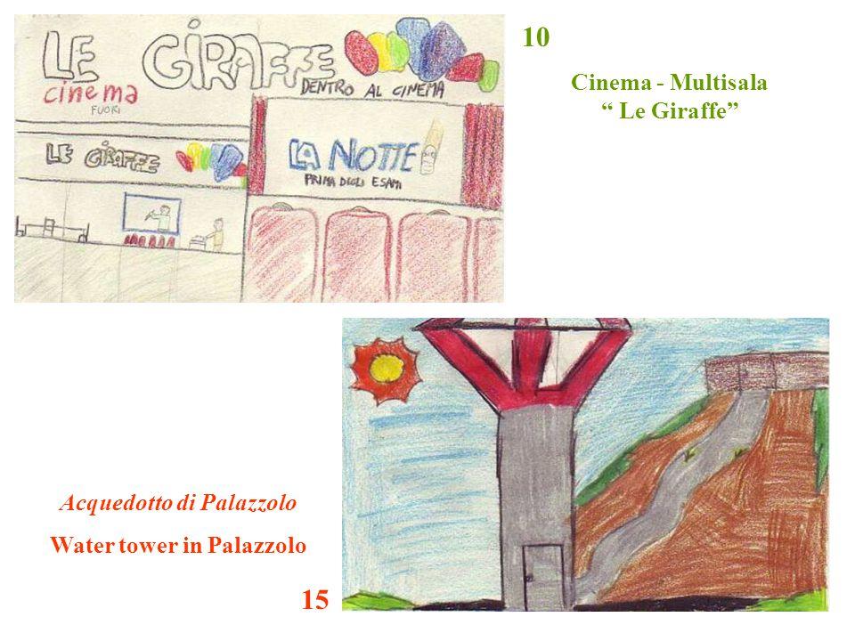 """Cinema - Multisala """" Le Giraffe"""" Acquedotto di Palazzolo Water tower in Palazzolo 15 10"""