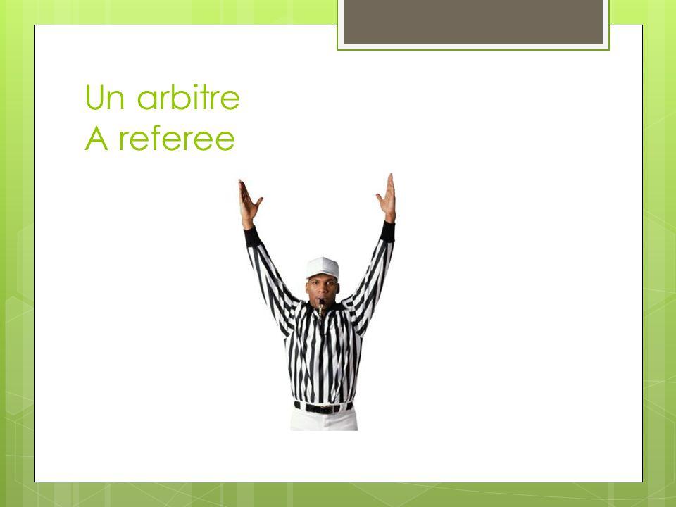 Un arbitre A referee
