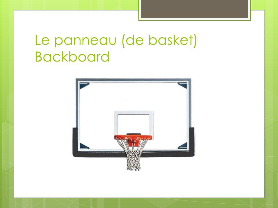 Le panneau (de basket) Backboard