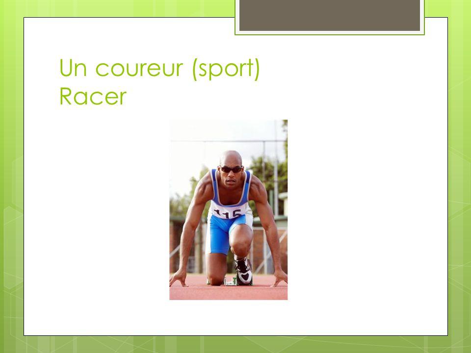 Un coureur (sport) Racer