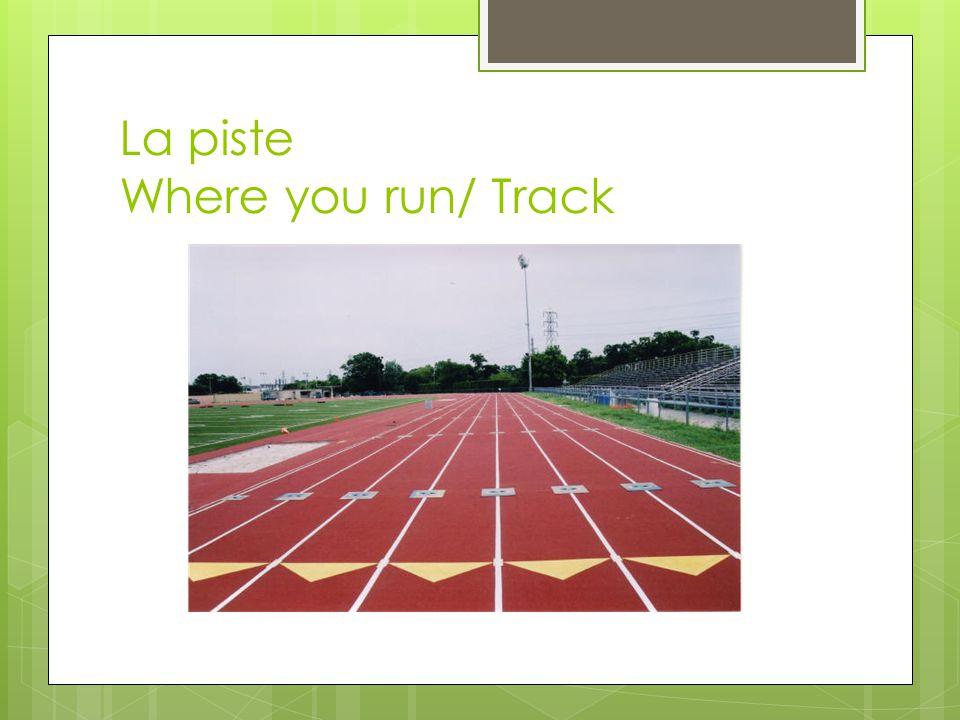 La piste Where you run/ Track