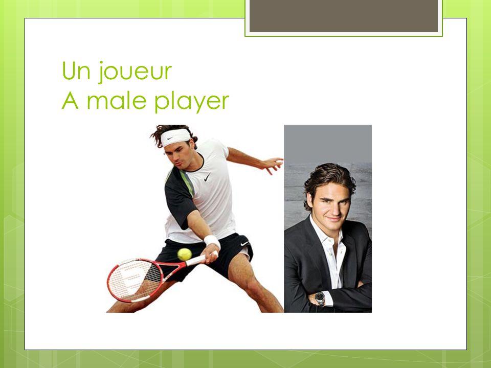 Un joueur A male player