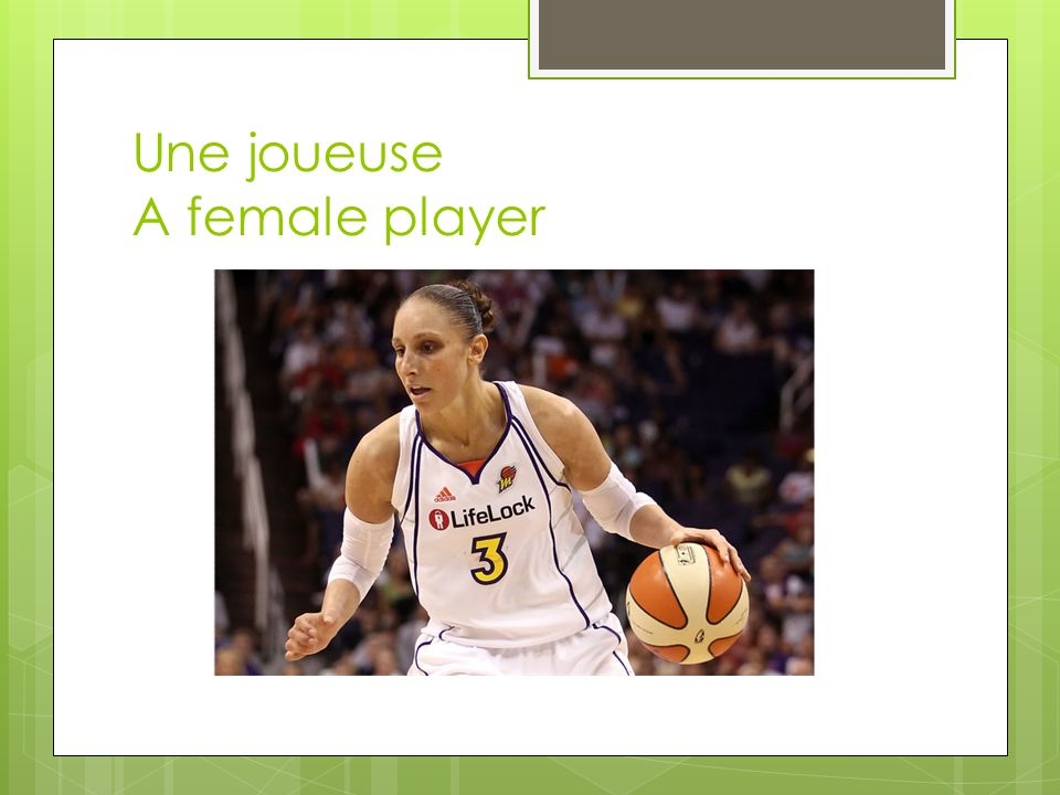 Une joueuse A female player