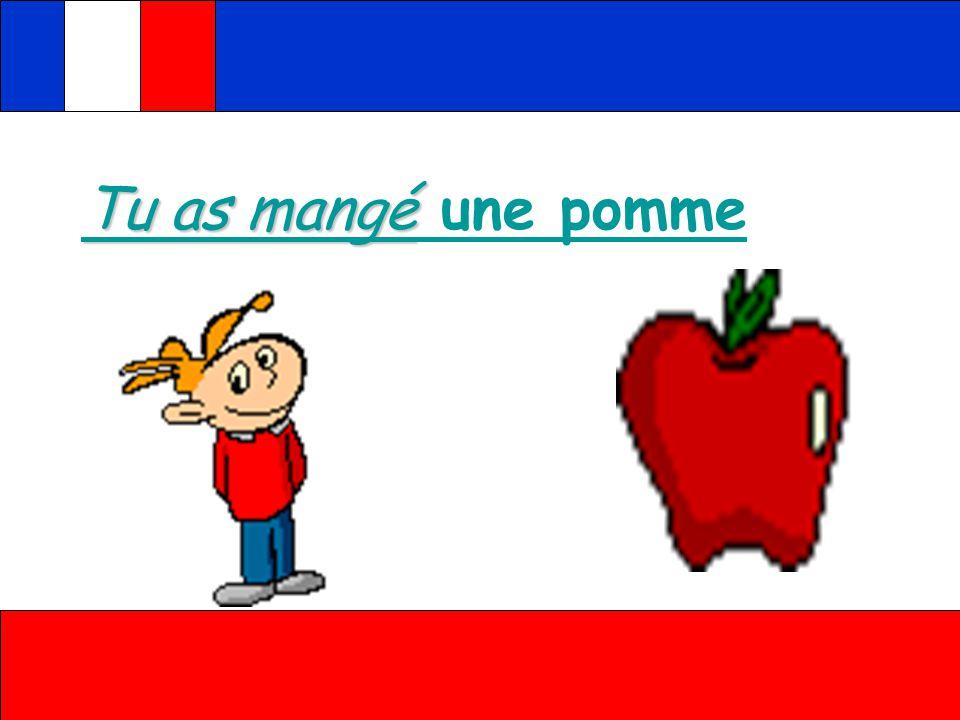 J'ai mangé J'ai mangé une pomme J'ai mangé J'ai mangé une carotte