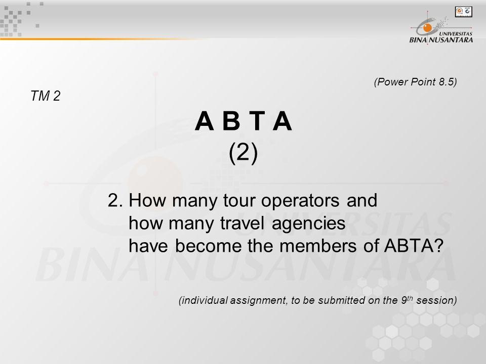 (Power Point 8.5) TM 2 A B T A (2) 2.