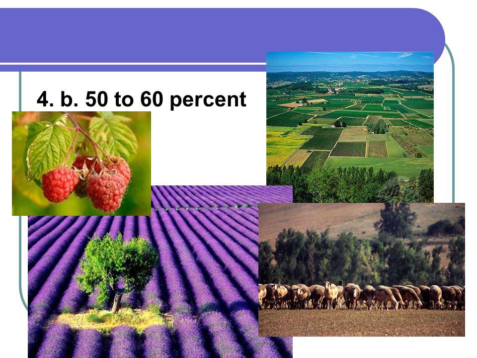 4. b. 50 to 60 percent