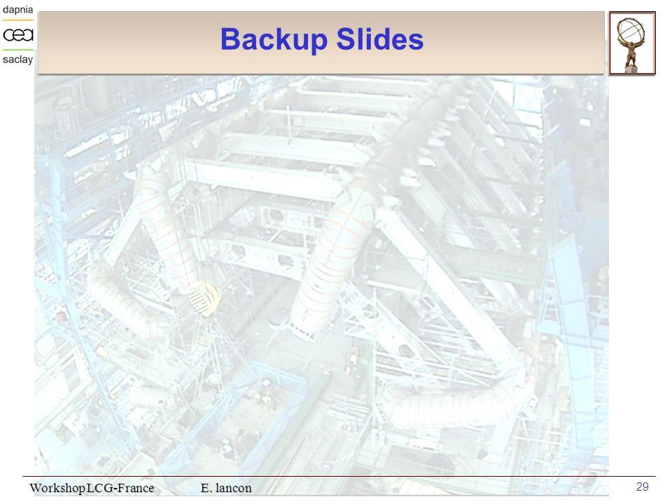 Workshop LCG-France E. lancon 29 Backup Slides