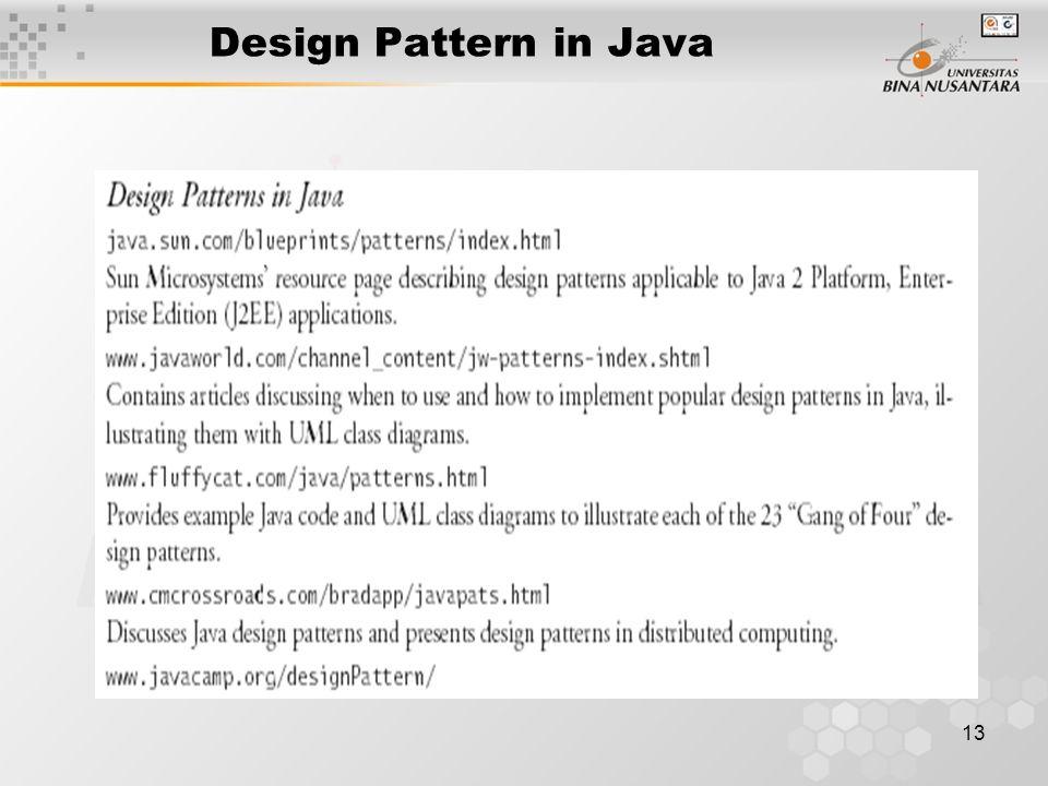 13 Design Pattern in Java