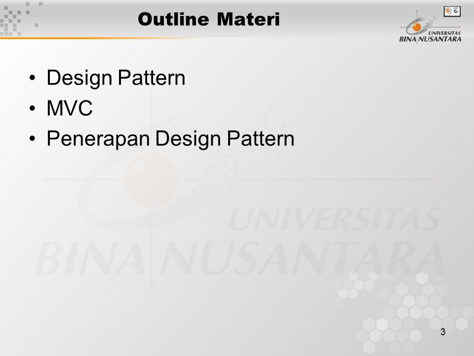 3 Outline Materi Design Pattern MVC Penerapan Design Pattern