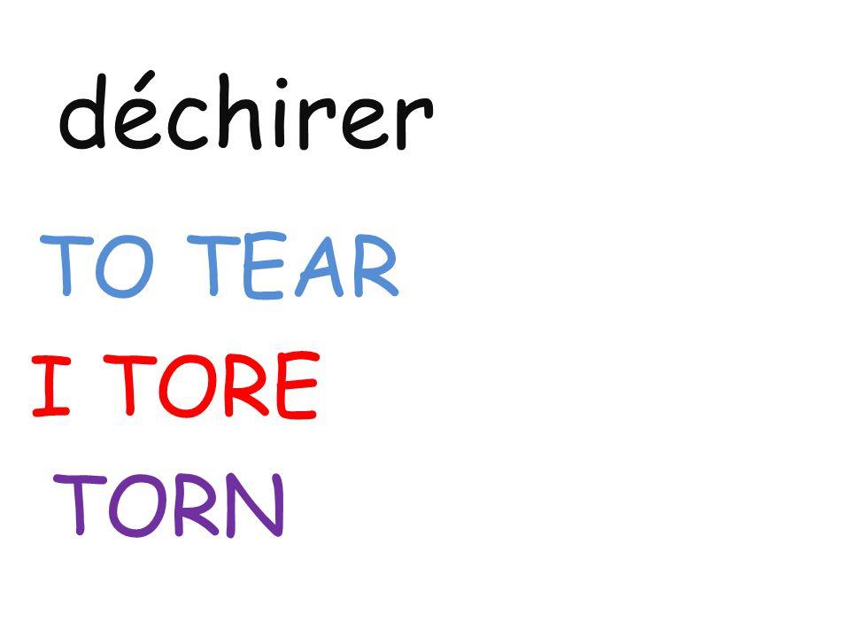 déchirer TO TEAR I TORE TORN