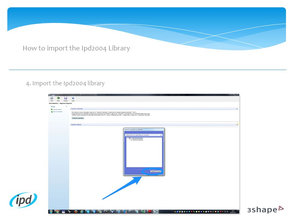 How to import the Ipd2004 Library 4. Import the Ipd2004 library