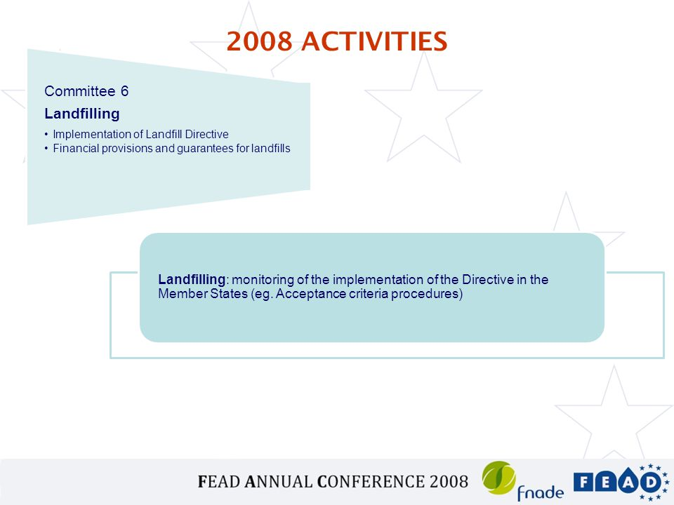 Landfilling: monitoring of the implementation of the Directive in the Member States (eg.