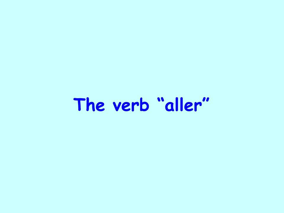 The verb aller