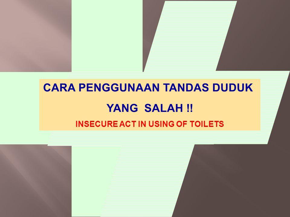 CARA PENGGUNAAN TANDAS DUDUK YANG SALAH !! INSECURE ACT IN USING OF TOILETS