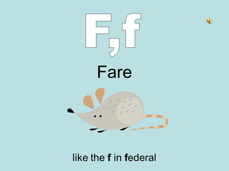 Fare like the f in federal